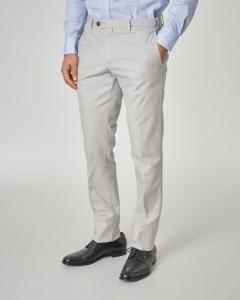 Pantalone grigio chiaro micro-armatura