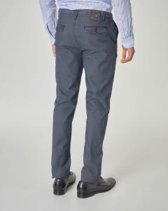 Pantalone chino blu in gabardina