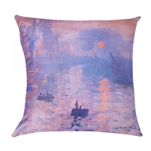 Decorative decor pillow RANDI 40x40 Quadri d'Autore Monet Levar del Sole