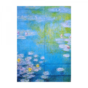 Dish cloth kitchen towel 50x70 cm RANDI Monet Water Lilies in Giverny