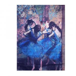 Dish towel kitchen towel 50x70 cm RANDI DEGAS Ballerinas in blue