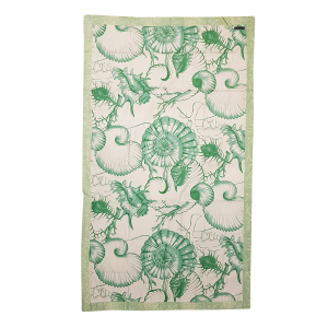 Blue Sea green 100x170 cm microfibre beach towel