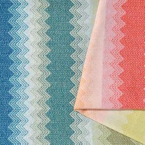 Missoni Home plaid with fringes 140x190 cm WALT 100 multicolored zig-zag