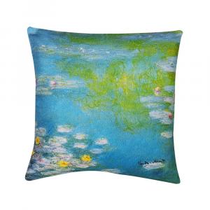 Decorative decor pillow RANDI 40x40 Quadri d'Autore Nymphae by Giverny