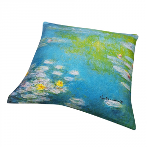 Decorative decor pillow RANDI 40x40 Quadri d'Autore Nymphae by Giverny