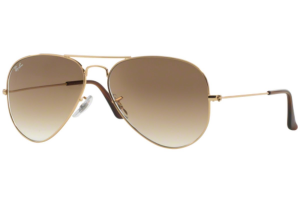 Ray Ban - Occhiale da Sole Unisex, Aviator Large Metal, Gold/Gradient Brown RB3025 001/51 C58