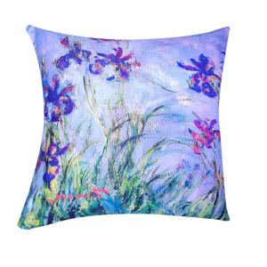 Cuscino arredo decorativo RANDI 40x40 Quadri d'Autore Iris Monet
