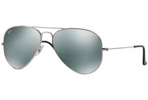 Ray Ban - Occhiale da Sole Unisex, Aviator Large Metal, Silver/Mirror Silver RB3025 W3277 C58