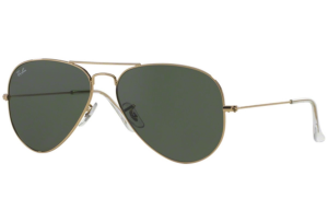 Ray Ban - Occhiale da Sole Unisex, Aviator Large Metal, Gold/Mirror Green RB3025 L0205 C58