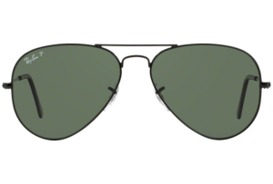 Ray Ban - Occhiale da Sole Unisex, Aviator Large Metal, Black/Green Mirror Gradient RB3025 002/58 C55