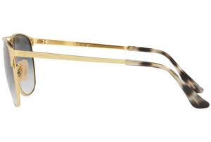 Ray Ban - Occhiale da Sole Uomo, Signet, Gold/Mirror Shiny Blue RB3429M 001/3F C55