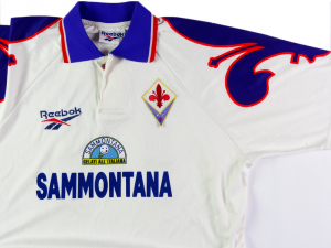 1995-96 Fiorentina Match worn #14 Cois XL