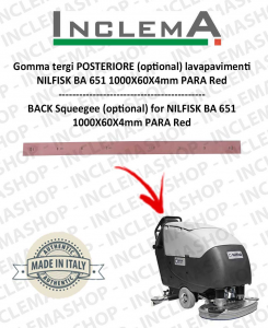 BA 751 Gomma tergi POSTERIORE (optional) per NILFISK