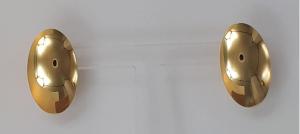 ORECCHINI A LOBO IN ORO GIALLO 18 KT 6.00 GR.  OVALI LUCIDI