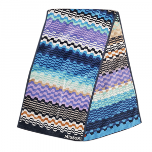 Missoni Home Fitness towel 40x160 cm LARA 170 blue fantasy