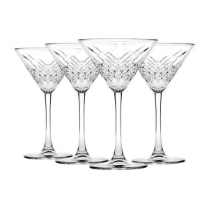 Set 4 Coppe Martini in vetro Timeless CL 23 cm.17,2h diam.11,6