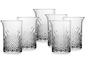 Set 6 pezzi Mixing Glass Timeless cm.15h diam.10,65
