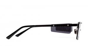 Italia Independent - Occhiale da Sole Unisex, GIlles Laps Collection, Matte Black/Gradient Grey 002LP C55