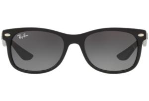 Ray Ban - Occhiale da Sole Unisex Kids, New Wayfarer Junior, Matte Black/Gradient Grey RJ9052S 100/11 C48