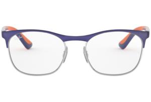 Ray Ban - Occhiale da Vista Unisex Kids, Junior Optical, Matte Blue - Orange RY1054 4073 C49