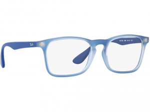 Ray Ban - Occhiale da Vista Unisex Kids, Junior Optical, Rubber Elettric Blue RY1553 3668 C48