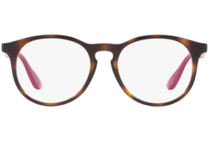 Ray Ban - Occhiale da Vista Bambina, Junior Optical, Dark Havana - Fuchsia RY1554 3729 C48