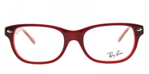 Ray Ban - Occhiale da Vista Unisex Kids, Junior Optical, Burgundy Red RY1555 3664 C48