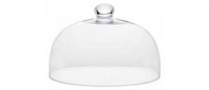 Campana cupola in vetro con pomello cm.17h diam.25,5
