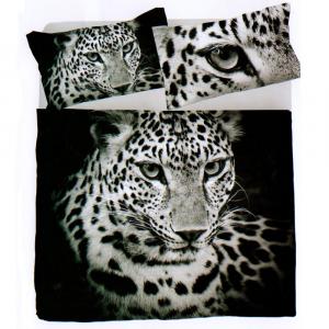 Completo lenzuola piazza e mezza LEOPARDO puro cotone stampa digitale