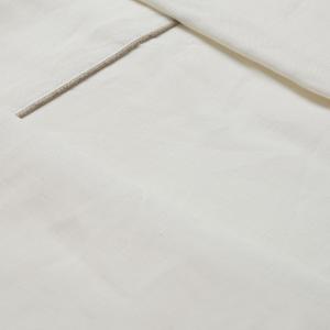 Completo lenzuola matrimoniale 2 piazze puro lino MARZOTTO LAB Atena bianco