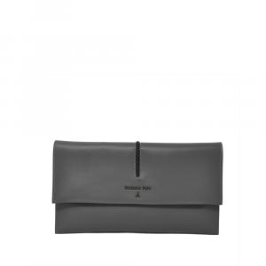 Pochette in pelle dark grey  - PATRIZIA PEPE