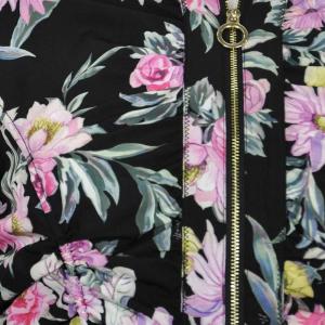 Giacca nera con stampa floreale - NENETTE
