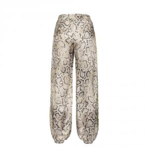 Pantalone stampa pitone con dettagli fluo - PINKO