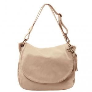 Tuscany Leather TL141110 TL Bag - Borsa morbida a tracolla con nappa Talpa chiaro