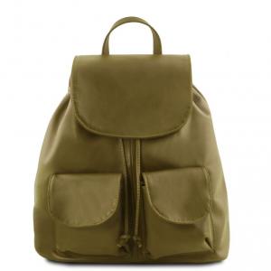 Tuscany Leather TL141507 Seoul - Zaino in pelle morbida - Misura grande Verde Oliva