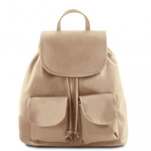 Tuscany Leather TL141507 Seoul - Zaino in pelle morbida - Misura grande Talpa chiaro