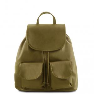 Tuscany Leather TL141508 Seoul - Zaino in pelle morbida - Misura piccola Verde Oliva