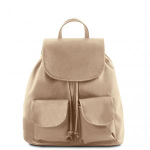 Tuscany Leather TL141508 Seoul - Zaino in pelle morbida - Misura piccola Talpa chiaro
