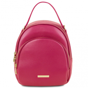 Tuscany Leather TL141743 TL Bag - Zaino donna in pelle Magenta