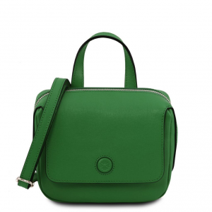 Tuscany Leather TL141762 Dalia - Mini borsa in pelle Saffiano Verde