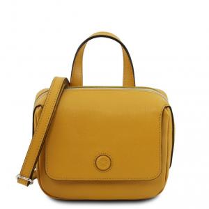 Tuscany Leather TL141762 Dalia - Mini borsa in pelle Saffiano Senape