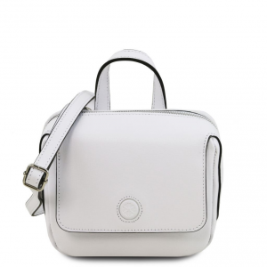 Tuscany Leather TL141762 Dalia - Mini borsa in pelle Saffiano Bianco