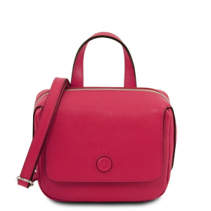 Tuscany Leather TL141762 Dalia - Mini borsa in pelle Saffiano Magenta