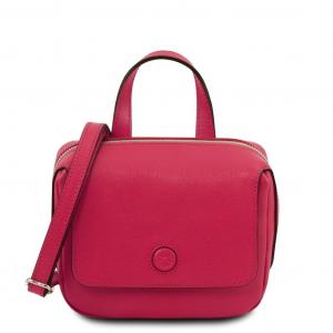 Tuscany Leather TL141762 Dalia - Mini borsa in pelle Saffiano Magenta