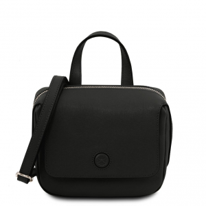 Tuscany Leather TL141762 Dalia - Mini borsa in pelle Saffiano Nero