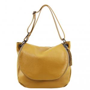 Tuscany Leather TL141802 TL Bag - Borsa morbida a tracolla con nappa Senape