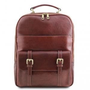 Tuscany Leather TL141857 Nagoya - Zaino porta notebook in pelle Marrone