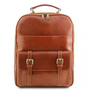 Tuscany Leather TL141857 Nagoya - Zaino porta notebook in pelle Miele