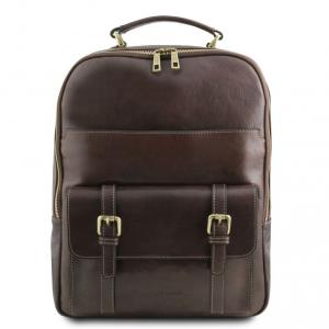 Tuscany Leather TL141857 Nagoya - Zaino porta notebook in pelle Testa di Moro