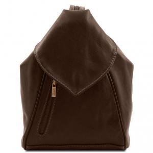 Tuscany Leather TL140962 Delhi - Zaino in pelle morbida Testa di Moro
